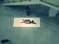 Beichtstuhl von oben (jusan) Tags: art exhibition erwinwurm berlinischegalerie oneminutesculptures beimutti
