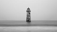 Grey (A_Cro) Tags: longexposure blackandwhite lighthouse monochrome wales canon landscape grey mono minimal minimalistic canon24105f4 longexposurephotography welshlandscape talacrebeach talacrelighthouse welshflickrcymru canon6d welshphotography