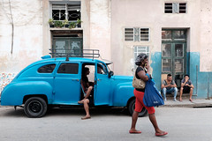 Untitled (kenwalton) Tags: boulevard car caribbean cuba door electronics gadget habana havana highway human humans lahabana pedestrian pedestrians people person phone photography road sidewalk sidewalks smartphone street streetphoto streetphotography streets urban vehicle vehicles walker walkers day daytime streetphotographer
