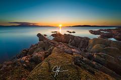 Last Light at Portencross (DrJekyll UK) Tags: coast clyde nikon rocks arran ayrshire portencross firthofclyde scottishlandscape scottishcoast leefilters nikond810 leecircularpolarizer leelittlestopper gilmourphotography