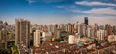 on a clear day (Rob-Shanghai) Tags: china leica sky cityscape shanghai pano towers clearday puxi changning leicaq