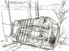 Van, à Berneau (gerard michel) Tags: car sketch belgium liège croquis