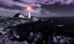 Beacon (christopher.bligh) Tags: ocean light lighthouse lake coast seaside rocks shoreline shore beacon
