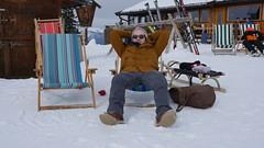 Matt chillaxing (Madleeeen) Tags: family winter snow ski cold austria skiing hats sunny amelie grandparents kaiser wilder sledge sledging