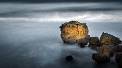 Last sun (RWYoung Images) Tags: ocean light sea seascape rock landscape australia olympus victoria mornington em5 longexpsore rwyoung abctvweather