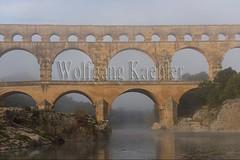 40080176 (wolfgangkaehler) Tags: bridge france water fog french europe european roman foggy bridges unescoworldheritagesite aqueduct nimes pontdugard fogbank aqueducts southernfrance 2016 1stcenturyad gardonriver garddepartment