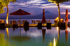 Idyllic Lombok (jefftan.geo) Tags: sunset sea bali reflection beach canon indonesia landscape volcano lowlight resort lombok sengigi mtagung sudamala