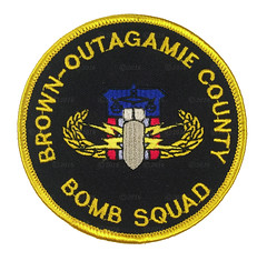 Brown-Outagamie County Bomb Squad Patch (Nate_892) Tags: county brown team police special sheriff patch squad emergency bomb critical tactics swat weapons cru k9 appleton response unit ert subdued outagamie