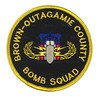 Brown-Outagamie County Bomb Squad Patch (Patch Collector) Tags: county brown team police special sheriff patch squad emergency bomb critical tactics swat weapons cru k9 appleton response unit ert subdued outagamie