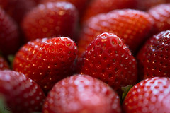 red macro (.) Tags: red macro rot fruit strawberry nikon strawberries 40mm nikkor fresas erdbeeren d7100