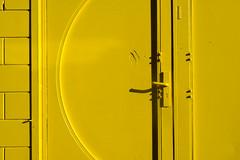 Yellow door (Jan van der Wolf) Tags: door shadow monochrome lines yellow curves minimalism schaduw geel deur lijnen monochroom map14964v