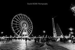 Paris ... La veille d'une nouvelle anne (oualid.rebib) Tags: paris france noiretblanc concorde rouedeparis parisrouedeparis