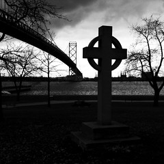 Celtic Cross, 2014. (Paul Turgeon) Tags: life sunset sea blackandwhite white black art monochrome landscape photography solitude outdoor fine scene zen simplicity passion and tranquil contemplation fineartphotography iphone enviroment manufacturing zenlike paulturgeon blackandwhitecontemplationenviromentfineartfineartphoto paulturg
