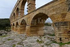 40080148 (wolfgangkaehler) Tags: bridge france water french europe european roman bridges unescoworldheritagesite aqueduct nimes pontdugard aqueducts southernfrance 2016 1stcenturyad gardonriver garddepartment