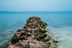 IMG_4100 (Palula Brasil) Tags: longexposure sea nature water island daylight colombia outdoor nd cartagena 2016 neutraldensity gentedelmar