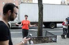 (zenjazzygeek) Tags: street city people woman newyork love public beautiful outside happy spring friend joy lovely greeting