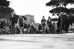That one (lorenzoviolone) Tags: blackandwhite bw italy roma tourism monochrome blackwhite reflex nikon strangers streetphotography tourists streetphoto dslr lazio imperialforum agfascala200 venicesquare vsco d5200 nikkor18105mm streetphotobw nikond5200 vscofilm walk:rome=april2016
