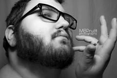 (MBPruitt) Tags: bear white black sexy photography cub chub mb blackandwhitephotography pruitt