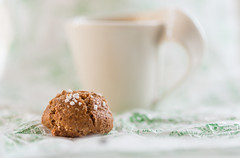 Amaretti & Coffee (Jillyem) Tags: cup coffee italian cookie drink beverage biscuit biscuits amaretti