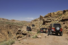 How Cliffhanger Got It's Name (W9JIM) Tags: red jeep offroad 4wd moab w9jim cliffhanger wrangler rubicon 1740l