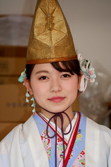 fukumusume, Imamiyaebisu-jinja (shrine), Osaka (jtabn99) Tags: japan nippon osaka shrinemaiden naniwa   imamiyaebisu fukumusume   20160111