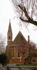St Barnabas, Eltham (2) (Matthew Huntbach) Tags: london blossoms anglican stbarnabas agfaprecisa100 eltham se9