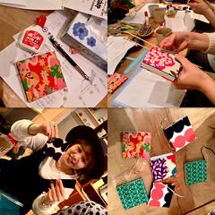 bookmaking (troutfactory) Tags: japan digital square books  kansai bookbinding  makingbooks minibooks ipod5  bookmakingworkshop