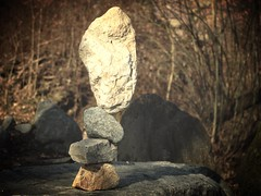 cairn (bulbocode909) Tags: nature hiver arbres cairns rochers cailloux forts