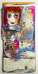 Identity art journal spread (czekoczyna) Tags: mixedmedia acrylics artjournal kasiakrzymiska katarzynakrzymiska