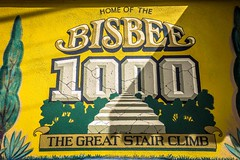 Another sign advertising the Bisbee 1000 Great Stair Climb.
