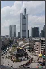 2011-04-28 Frankfurt - View from Galeria Kaufhof - 4 (Topaas) Tags: germany deutschland frankfurt frankfurtammain zeil duitsland commerzbank hauptwache eurotower sonya580 sonyalpha580 sonydslra580 galeriakaufhoffrankfurtanderhauptwache