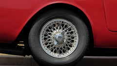 Sunbeam Wheel (Theen ...) Tags: red wheel vintage lumix central adelaide sportscar wingnut knockoff quickrelease sunbeamalpine theen lockingcap wirespoked