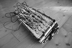 LEGO TECHNICALS Modular Eurorack case No.2 / patched (dkmnews) Tags: lego case modular synthesizer doepfer eurorack legotechnic uzeus