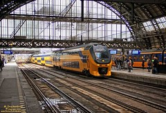 Intercity train inside the Amsterdam Centraal (PhotosToArtByMike) Tags: holland netherlands dutch amsterdam train centercity railwaystation passenger centrum amsterdamcentraal centralrailwaystation northholland