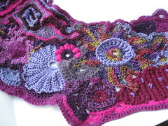 Neck warmer detail (atgaiva) Tags: crochet free swap form freeform
