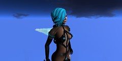 Kit_Cyber_Mellor_021616_041 (Carla Putnam) Tags: blue woman black look fashion night hair fly flying nipples jet sl pack secondlife future looks harness futuristic cyber cyberpunk hovering hover fashions lighted neurolab