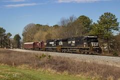 NS 905 Geo (Brick) at Dallas (Republish) (travisnewman100) Tags: railroad atlanta train georgia dallas high 33 geometry ns district north norfolk southern research hood division ge 34 emd gp38 c409