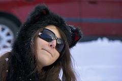 Snow Happy (Noel Alvarez1) Tags: new snow girl garden state sony south jersey blizzard northeaster shild a6000