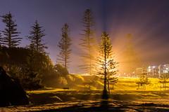 Sea Mist! (TonyinAus) Tags: ocean longexposure light sea mist beach skyline night canon