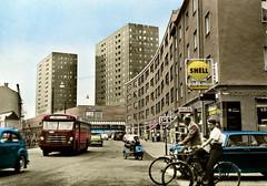 Orebro, Sodercity (vykort) (Michael Erhardsson) Tags: sweden gata sverige centrum stad rebro stadsmilj nrke frgfoto