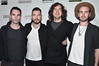SANTA MONICA, CA - FEBRUARY 25: Musicians Johnny McDaid, Nathan Connolly, Gary Lightbody and Paul Wilson of Snow Patrol attend the Oscar Wilde Awards at Bad Robot on February 25, 2016 in Santa Monica, California. (Photo by Alberto E. Rodriguez/Getty Images for US