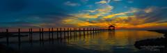 Rodanthe, NC OBX Sunset (Ron Harbin Photography) Tags: nc rodanthe carolina north sunset pier elitegalleryaoi bestcapturesaoi hurricanejoaquin panorama stich water ocean evening