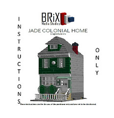 Jade Colonial Home (bxbrix) Tags: lego colonial modular futon