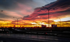 20160210_073438 (ibzsierra) Tags: cloud sun sol sunrise dawn trabajo movil samsung amanecer ibiza eivissa telefono nube baleares