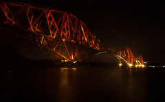 The Forth Rail Bridge (EricHarden) Tags: bridge night river lights scotland edinburgh fife rail tokina forth forthrailbridge d300 1116mm