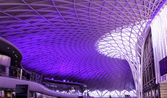 Going Violet (Lawrence OP) Tags: london station purple violet kingscross canopy lent