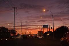 Avenida Ramiro Priale (Carlos Ramirez Alva) Tags: road sunset atardecer drive avenida carretera lima per avenue manejando santaanita manejo chosica carapongo ramiropriale