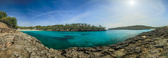Cala Mondrago (FAM Martin Z) Tags: blue sea sky panorama sun green nature water zeiss landscape spain mare pano filter lee mallorca spanien majorca gegenlicht balearen waterscape distagon illesbalears islasbaleares balearischeinseln erholungspark 5ds calamondrago canon5dsr 5dsr