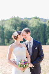 summer wedding (Sandra Ardizzone Photography) Tags: wedding light summer sunlight fall love beautiful groom bride switzerland couple natural availablelight happiness bouquet backlit aargau
