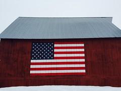 American barn. (Rick Takagi) Tags: apple barn flag american iphone shotoniphone6